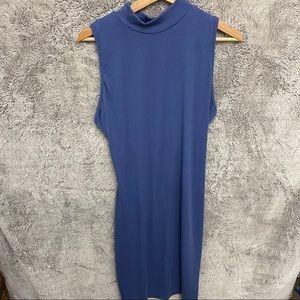 Charlotte Russe High Neck Rib Sleeveless Dress